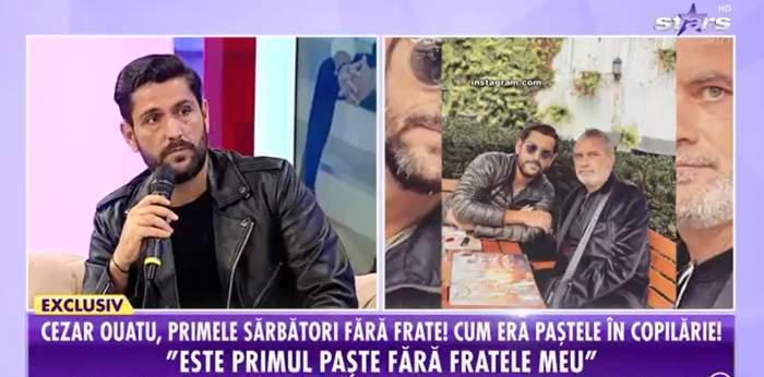 Captură video cu Cezar Oautu în platou la Antena Stars.