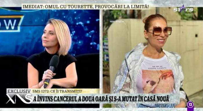 Bianca Sârbu în platou la Antena Stars.