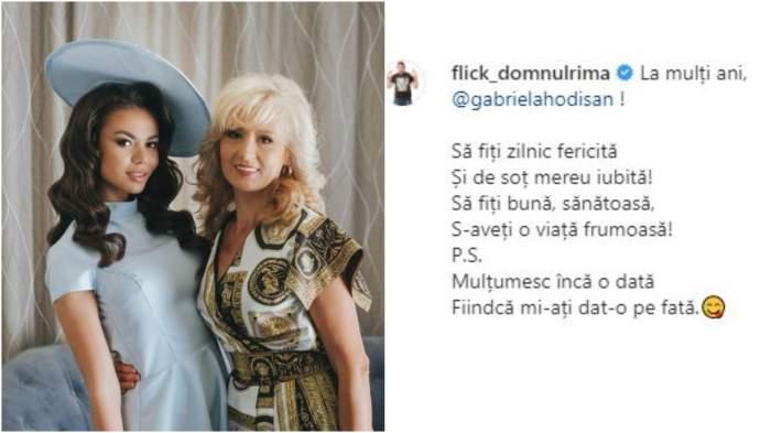 Denisa Hodișan alături de mama sa/ versurile scrie de Flick.