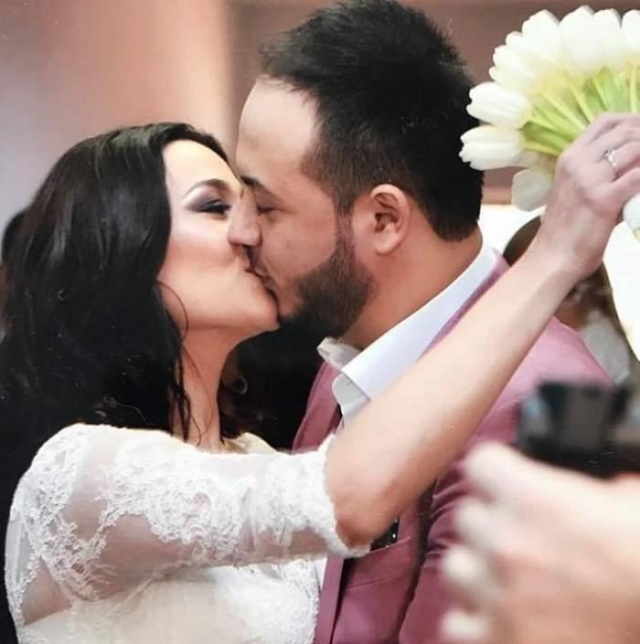 Claudia Pătrășcanu și Gabi Bădălău se saruta la cununia civila