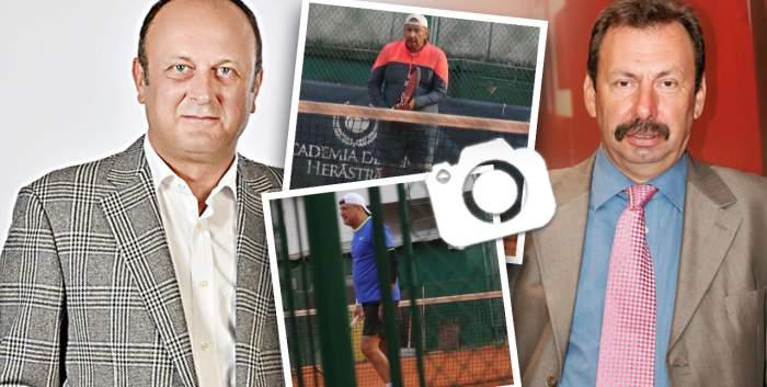 Dan Șucu și Marian Alecu, așa cum rar îți e dat să-i vezi. Milionarii Capitalei s-au luat la întrecere pe terenul de tenis / PAPARAZZI