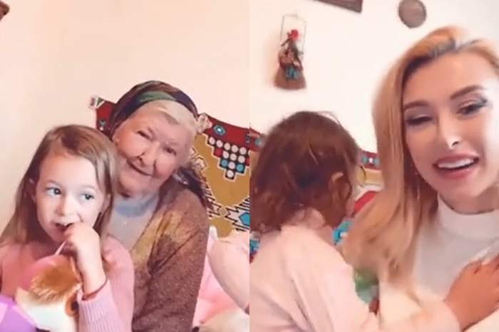 andreea balan cu fetite la bunica ei