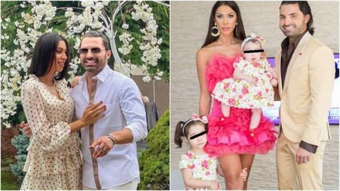 Colaj cu Pepe și Raluca în perioada în care formau un cuplu, alături de fiicele lor.
