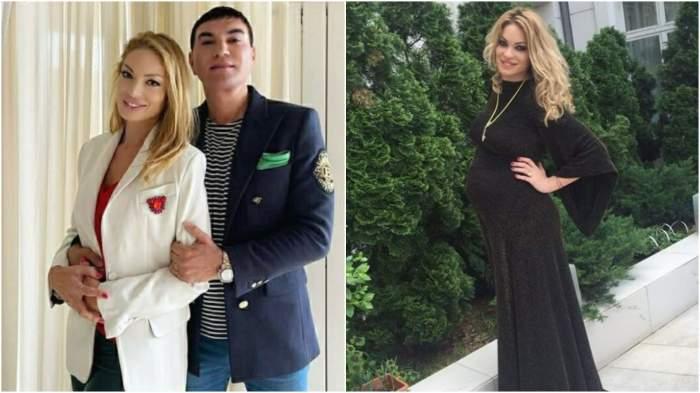 Colaj cu Valentina Pelinel și Cristi Borcea îmbrățișați/ Valentina Pelinel gravidă.