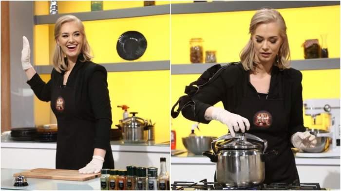 Feli Donose în bucătăria Chefi la cuțite.