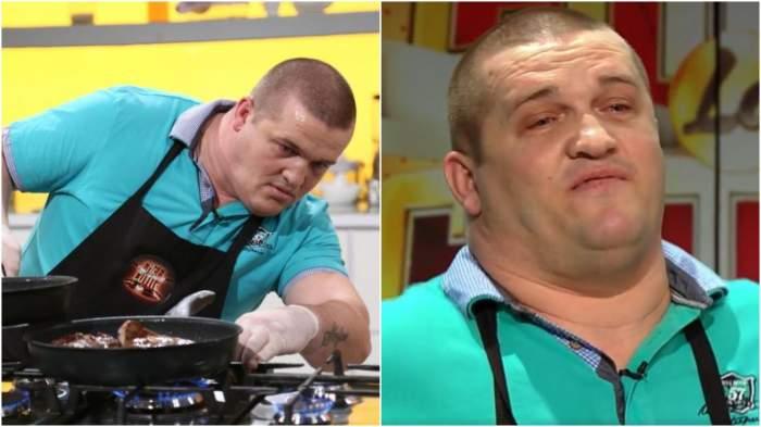 Captură video cu Daniel Ciurlică la Chefi la cuțite.