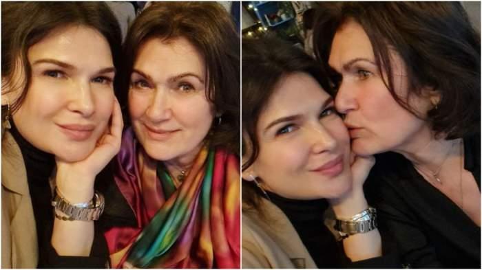 Colaj cu Monica Bârlădeanu și mama sa.