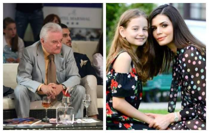 Colaj foto cu Irinel Columbeanu, fiica sa și Monica Gabor