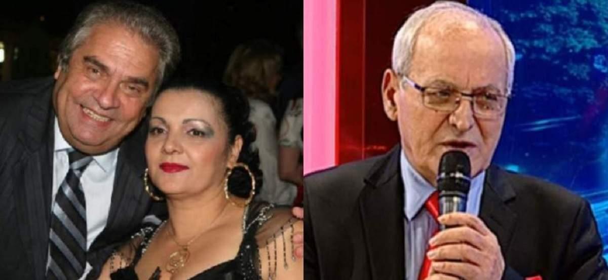 În stânga e o imagine cu Aurel Pădureanu și Cornelia Catanga, de la un eveniment. În stânga Nelu Ploieșteanu dă un interviu și poartă cămașă bleu, cravată roșie și sacou negru.