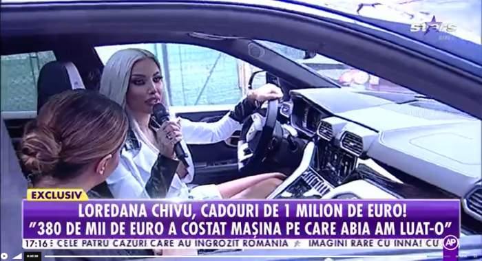 Loredana Chivu, interviu în mașină, la Antena Stars.