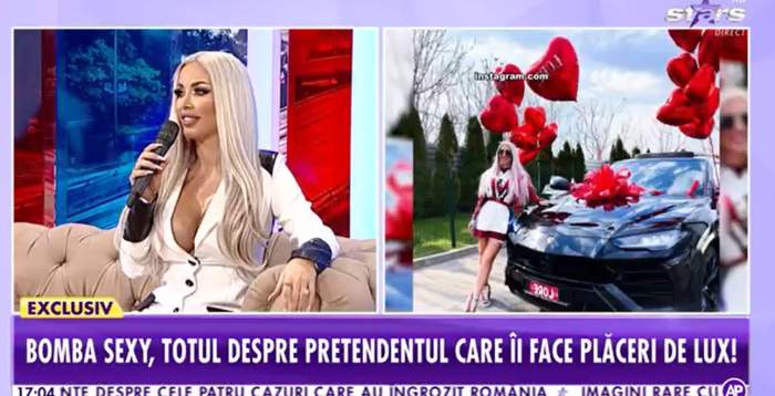 Loredana Chivu în platou la Antena Stars.