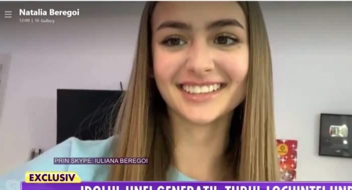 """Cum se înțelege, de fapt, Iuliana Beregoi cu sora ei mai mică. """"Ne trăgeam de păr, erau chestii de genul ăsta"""" / VIDEO"""