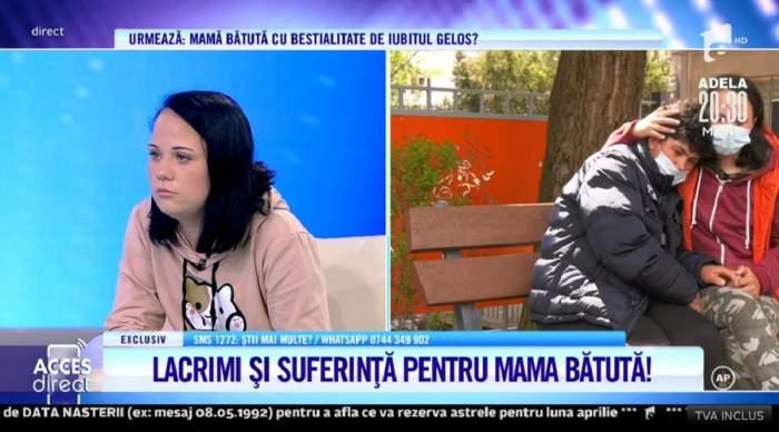 """Acces Direct. Ramona susține că luptă să-și salveze mama din ghearele iubitului! Femeia, snopită în bătaie de concubin? """"I-a rupt mâna"""" / VIDEO"""