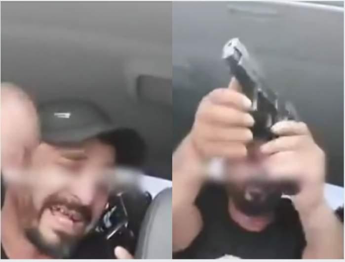 """Un interlop din Timișoara își amenință inamicii pe Facebook, cu pistolul în mână. """"Omor 7-8, ultimul mi-l trag eu în cap"""""""