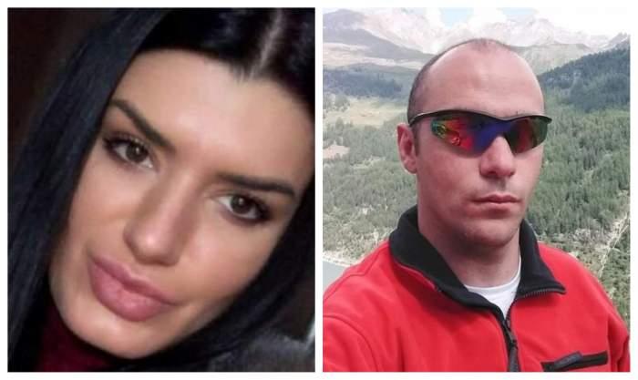 Elena Serban este machiata si are parul despre, Gabriel Falloni este la munte, are ochelari de soare