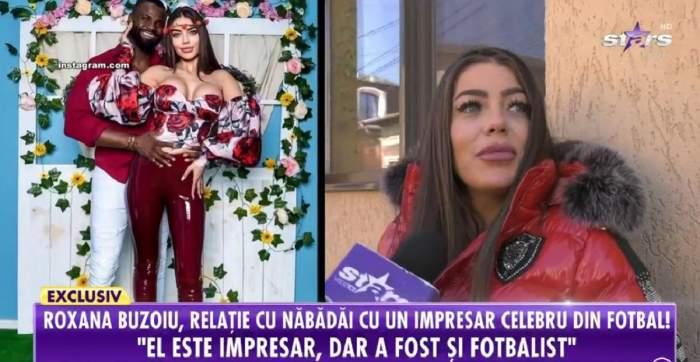 Roxana Buzoiu dă declarații pentru Antena Stars. Șatena poartă o geacă roșie.