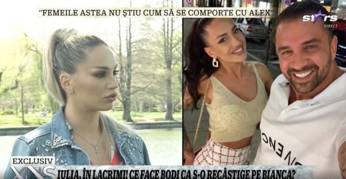 Captură video cu Iulia Sălăgean în timpul interviului.
