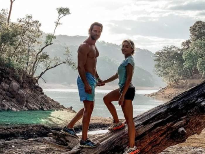 Angelique Boyer și Sebastian Rulli imbracati sport in vacanta