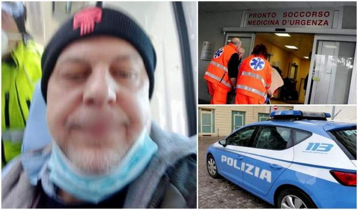 """Patru polițiști din Italia au ajuns la spital, după ce un român i-a bătut cu bestialitate: """"Am buzele umflate și despicate. Era sălbatic"""""""