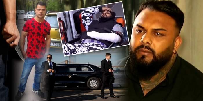 Interlopul Bebino, ținta unui nou atac mafiot / Liderul grupării Sportivilor, păzit ca un șef de stat