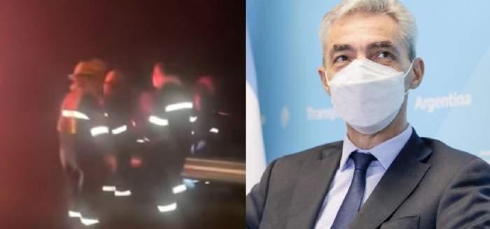 Un colaj cu Mario Meoni și accidentul în care a murit. Pompierii au intervenit la fața locului.