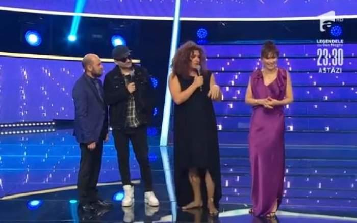Liviu Vârciu și Andrei Ștefănescu, alături de prezentatorii Te cunosc de undeva