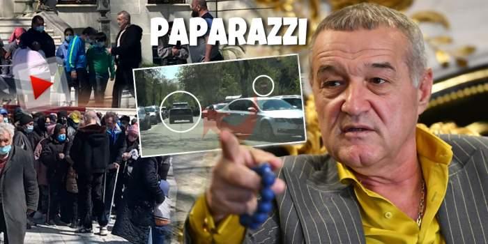 Gigi Becali respectă tradiția de a face fapte bune și în pandemie! Latifundiarul nu a mai ținut cont de lege pentru a ajunge la Palat, unde îl așteptau zeci de nevoiași / PAPARAZZI
