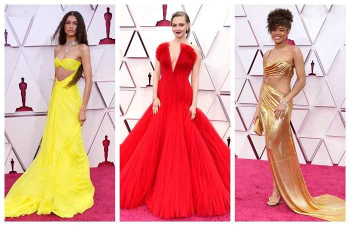 Amanda Seyfired, Anda Day, Zendaya, pe covorul rosu la Gala Oscar 2021