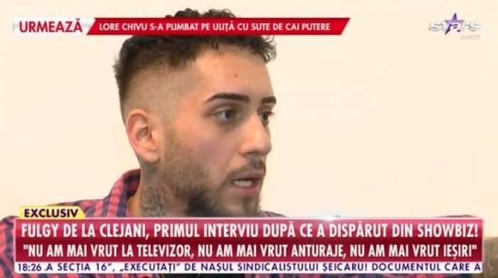 Fulgy oferă un interviu la Antena Stars