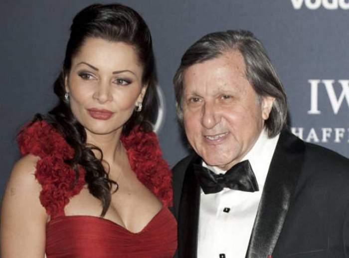 Ilie Năstase și Brigitte Pastramă, îmbrățișați, îmbrăcați elegant