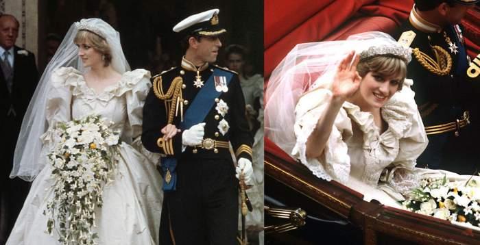 printesa diana in rochie de mireasa la nunta