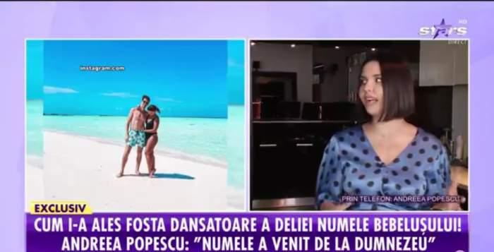 Andreea Popescu, dezvăluiri despre a doua sarcină la Showbiz Report. Fosta dansatoare a Deliei așteaptă o fetiță / VIDEO