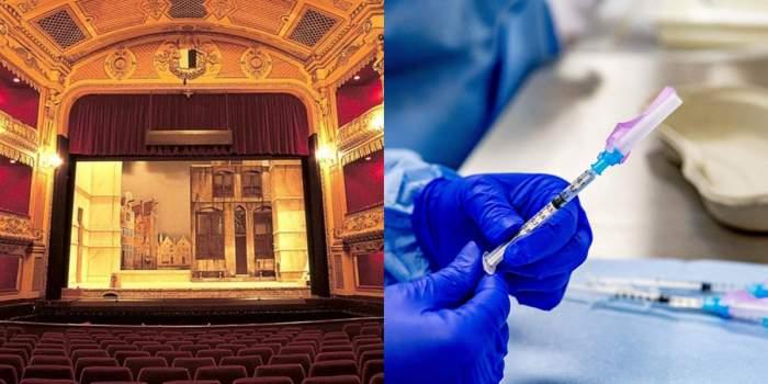 teatru colaj cu vaccin