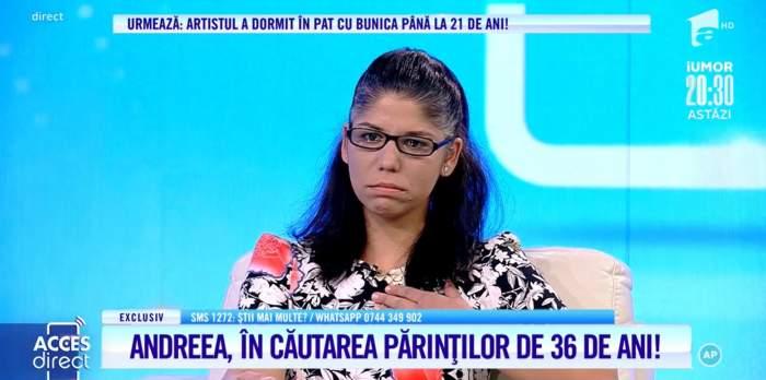 """Acces Direct. Andreea, în căutarea părinților pe care nu îi cunoaște. Tânăra nu știe cine este, și de unde vine: """"Mama, tata, unde sunteți?"""" / VIDEO"""