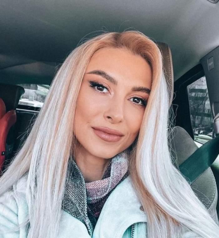 Andreea Bălan, la volan