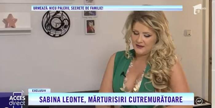 Acces Direct. Sabina Leonte, poveste de viață cutremurătoare. Cântăreața a fost salvată de la moarte de propriul copil
