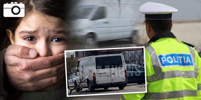 """""""Colecționarul de copii"""" / Singura imagine cu duba albă folosită pentru racolarea minorilor / Poliția, în alertă!"""
