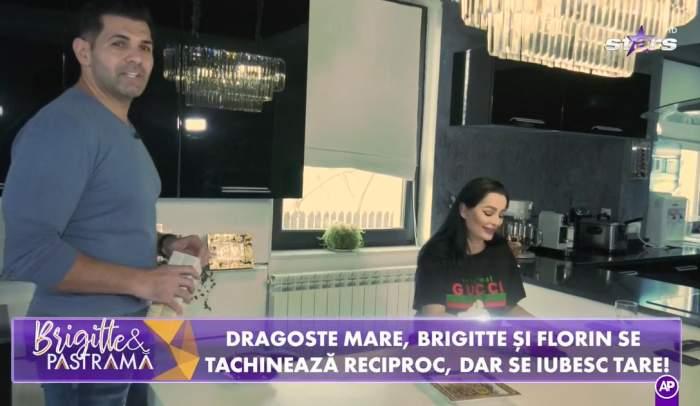 Brigitte și Florin Pastramă la masă