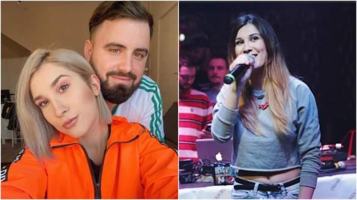 Colaj cu Adda și Cătălin Rizea îmbrățișați/ Adda la începutul carierei sale.