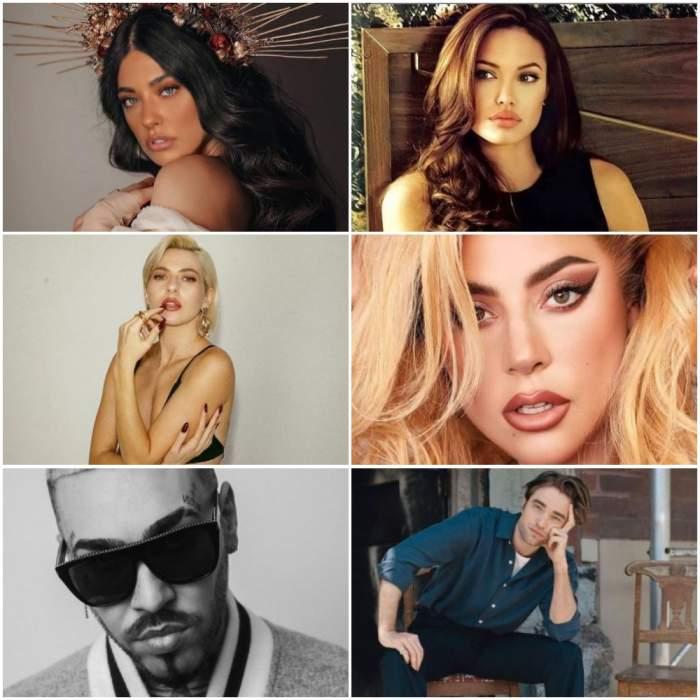 Colaj cu Antonia, Angelina Jolie, Lidia Buble, Lady Gaga, Alex Velea și Robert Pattinson.
