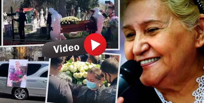 Gabi Luncă a fost înmormântată. Artista, condusă pe ultimul drum cu lăutari, au fost eliberați porumbei și i-a fost întins covor roșu /  VIDEO