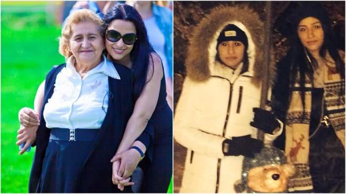 Colaj cu Gabi Luncă alături de fiicele sale, în perioada în care trăia.