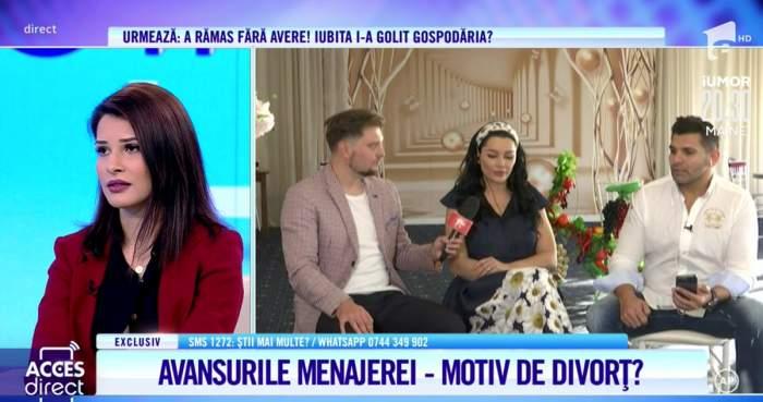 """Acces Direct. Brigitte Pastramă reacționează, după ce menajera i-ar fi făcut avansuri soțului ei: """"Mi s-a părut ciudat"""" / VIDEO"""