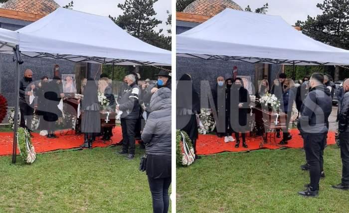 fiicele si sotia lui nelu ploiesteanu la cimitir