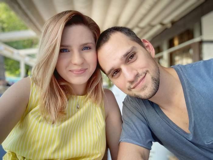 Cristina Ciobănașu și Vlad Gherman în perioada în care formau un cuplu, în vacanță.