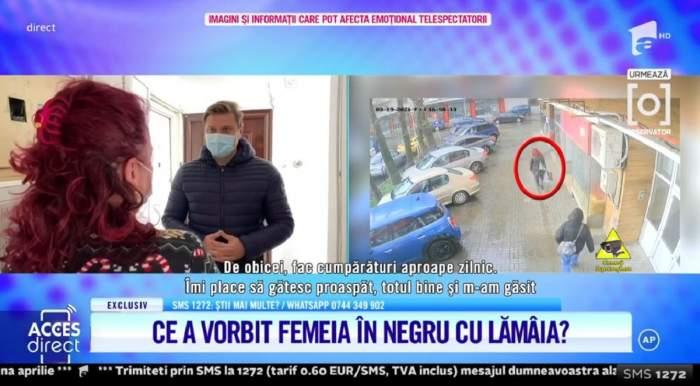 """Acces Direct. Al doilea posibil complice al agresoarei Mirelei Vaida a fost găsit. Ce a vorbit femeia în negru cu Lămâia Stănescu: """"O cunosc din stradă"""""""