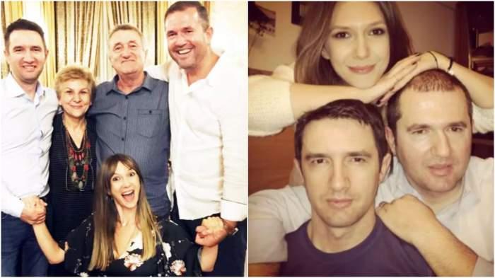 Colaj cu Adela Popescu alături de frații și părinții săi.