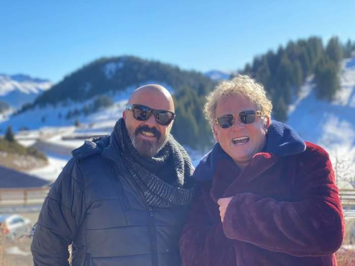 Leonard Miron alături de iubitul lui, la munte