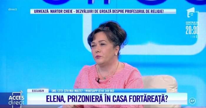 """Acces Direct. Elena, bătută și amenințată cu moartea de fostul soț, profesor de religie? """"M-a agresat pe mine și pe mama mea"""" / VIDEO"""