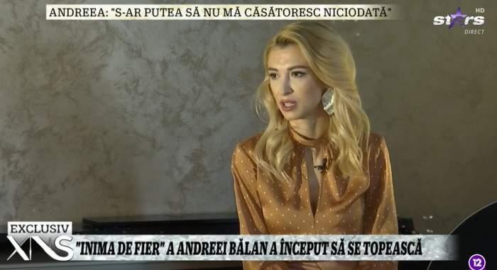 """Andreea Bălan, dezvăluiri la Xtra Night Show despre clipele grele prin care a trecut: """"Mă durea tot corpul la cât de mult sufeream"""""""
